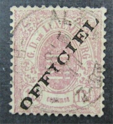nystamps Luxembourg Stamp # O17 Used $275