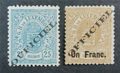 nystamps Luxembourg Stamp # O18.O19 Mint OG H $54 Signed