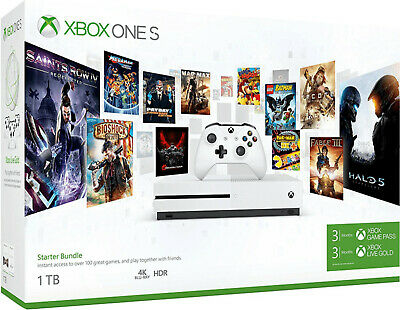 MICROSOFT Xbox One S 1TB Konsole - Starter Bundle (3 Monate: Gold + Gamepass)