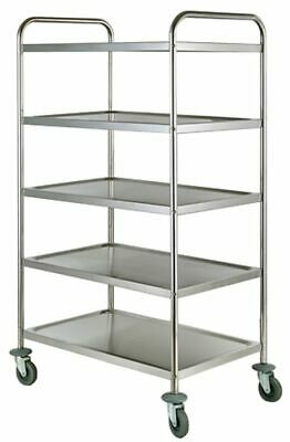 Serving Cart Transporter, 855x535x1550mm, with 5 Borden, Clearing Trolley