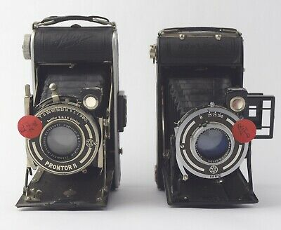 Lot of 2 Antique German Folding Cameras Ihagee, Bower-X - NO RSV BC-221