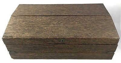 Stunning Anglo Indian Ceylonese Hardwood Writing Box Slope With Hidden Drawers