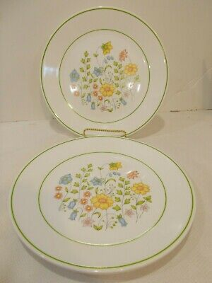 Corelle Dinnerware Meadow Dinner Plates Floral With Green 4 Pcs.