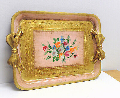 Tray Bow The Fourteenth-Century Wood Gold Antique Decoration Handcraft
