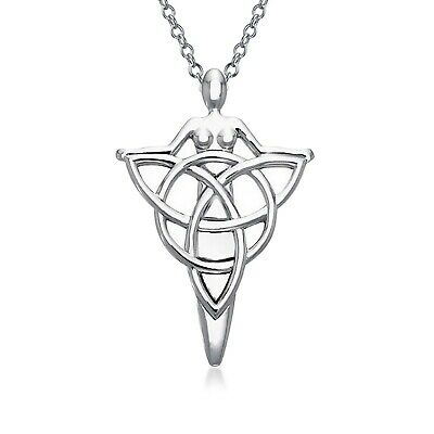 Irish Celtic Danu Goddess of Tree Protector of Land Triquetra Large Penda... New
