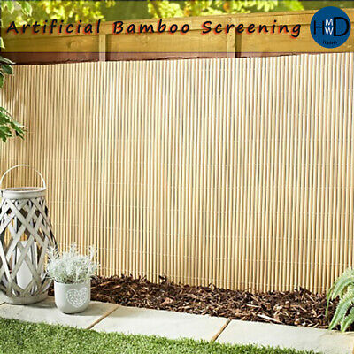 Bamboo Slat Fencing Screening Rolls for Garden Outdoor Privacy Artificial 4x1m