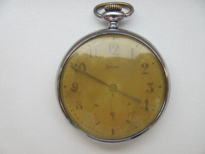 Rare Old Soviet Vintage Mechanical Pocket Watch ZIM USSR 1940-50's