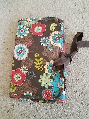 31 Thirty One fold and go organizer Notepad floral fanfare excellent condition