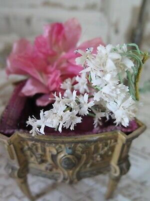 Antique French Millinery Flowers Wedding Corsage 1920s  Stoffblüten Rose