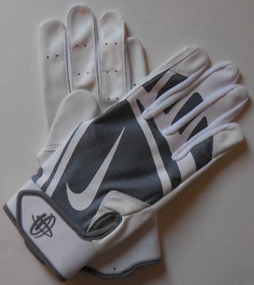 7abd76073e79 Nike Huarache Elite Batting Gloves Cool Grey Wolf Grey White Men s Adult  Medium