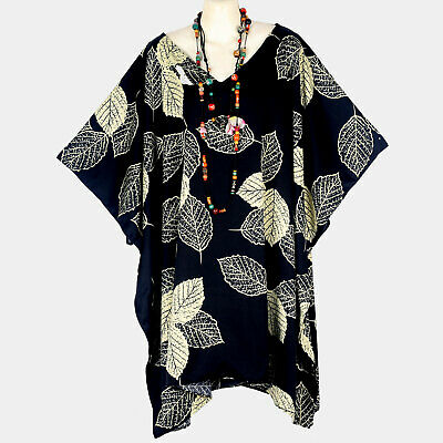 Floral Satin Caftan Tunic Poncho Top New Black Beige Plus Size 4X 5X 6X P21576