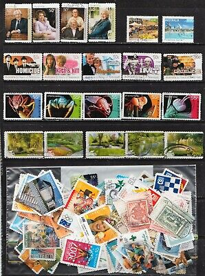 2006 To 2010 100 Australian Stamps  All Different  Used