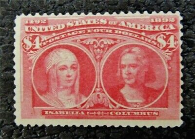 nystamps US Stamp # 244 Mint OG H $2250