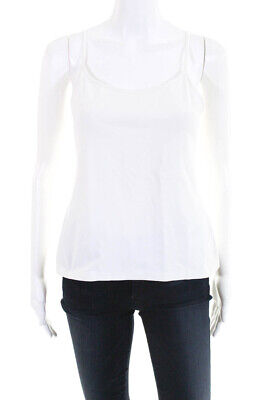 0e58eda4 Anne Fontaine Womens Spaghetti Strap Camisole Top Shirt White Size IT 44