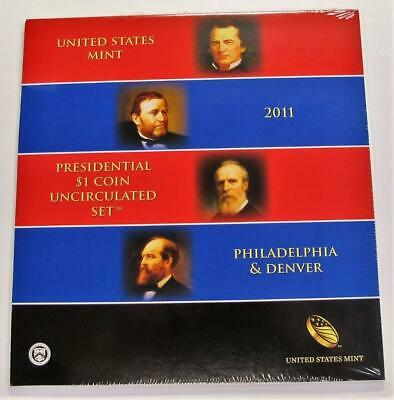 2011 P&D U.S. Presidential Dollar Set * 8 Coin Uncirculated Mint Set * In Holder