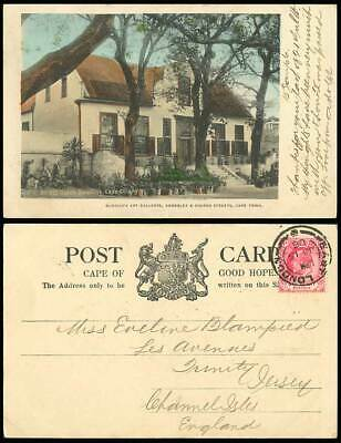 South Africa Cape Town 1906 Hand Tinted Postcard Old Dutch Dwelling, Cape Colony
