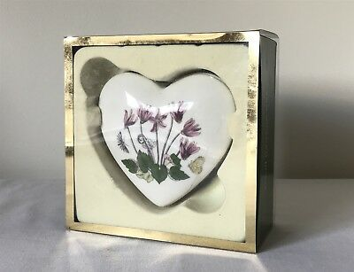 Unused, Opened Box Portmeirion Botanic Garden Mini Heart Treasure Box - BG76040x