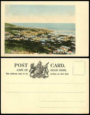 South Africa Sea Point near Cape Town Panorama Capetown Old Hand Tinted Postcard