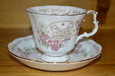Royal Albert tea cup and saucer Sagittarius Zodiac Series teacup tea party