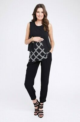 Ripe Maternity Grid Crossover Nursing Blouse