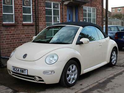 2004 VW Beetle 2.0 Auto Convertible Harvest Moon Beige Leather Park Sensor 81k