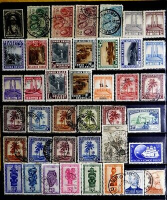 Belgian Congo, Belgium: Classic Era To 40's Stamp Collection With Sets