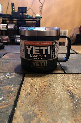 YETI Rambler 14 oz Stainless Steel Vacuum Insulated Mug with Lid,Black Free Ship