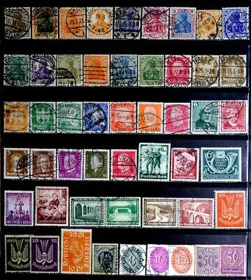 Germany: Classic Era Stamp Collection Many Cds Circular Date Cancellations