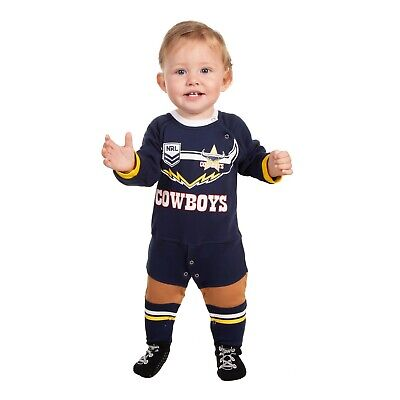 NRL North QLD Cowboys 2019 Baby Footysuit - Sizes 000 - 1