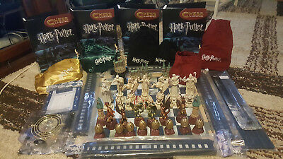 Harry Potter chess set, original and GoF with 4 albums of instructions