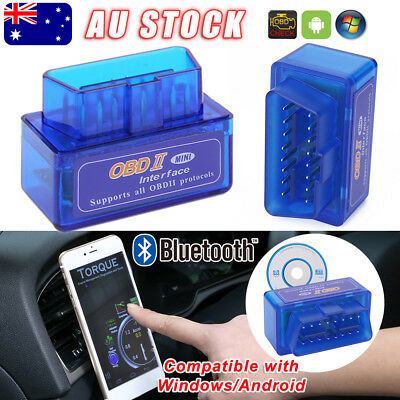 ELM327 OBDII OBD2 Car Bluetooth Scanner Torque Android CAN BUS Auto Scan Tool ad