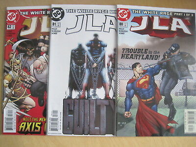 "JLA  80,81,82,""The WHITE RAGE"" COMPLETE 3 ISSUE STORY.1997 JUSTICE LEAGUE SERIES"