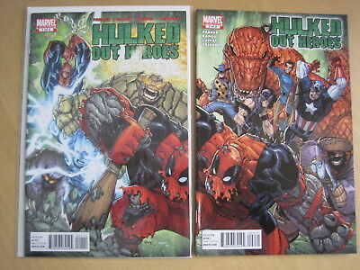 HULKED OUT HEROES : COMPLETE 2 ISSUE 2010 MARVEL SERIES featuring DEADPOOL. HULK