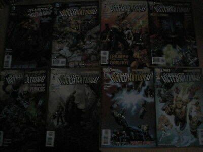 JUSTICE LEAGUE INTERNATIONAL : COMPLETE RUN 1 - 8. 1st PRINTS.DC THE NEW 52.2012