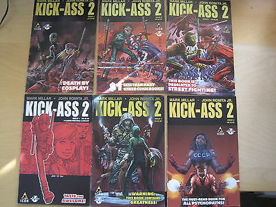KICK - ASS  2 : COMPLETE 7 ISSUE ICON 2011 SERIES by MARK MILLAR & ROMITA JR