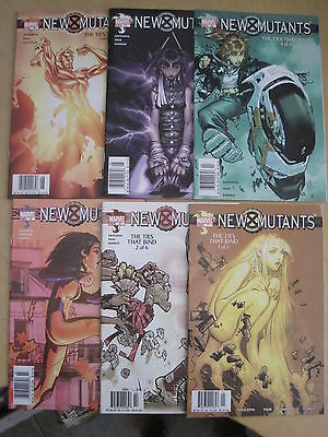 """New Mutants 7-12 : """"Ties That Bind"""" : Complete 6 Issue Story. Marvel 2003 Series"""