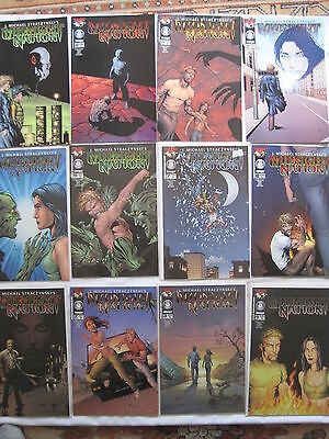 MIDNIGHT NATION : COMPLETE 12 ISSUE SERIES by STRACZYNSKI & FRANK. TOP COW. 2001