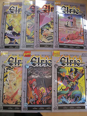 """M. MOORCOCK'S ELRIC : SAILOR on the SEAS OF FATE"""" : COMPLETE 7 ISSUE SERIES.1985"""