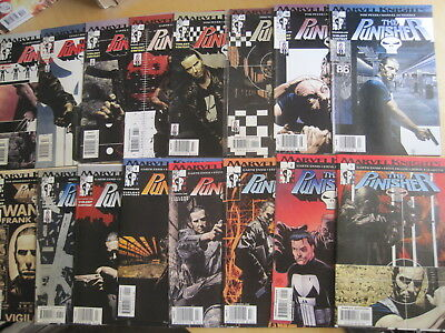 PUNISHER :COMPLETE RUN issues 1-16 of 2001,MARVEL KNIGHTS series by ENNIS,DILLON