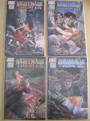 NIGHTMARE THEATER : COMPLETE 4 ISSUE SERIES.BEAUT by BRIAN PULIDO etc.CHAOS.1997