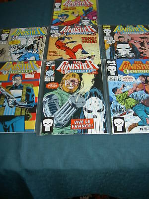 PUNISHER issues 64,65,66,67,68,69,70 EUROHIT, complete 7 issue MARVEL 1992 story