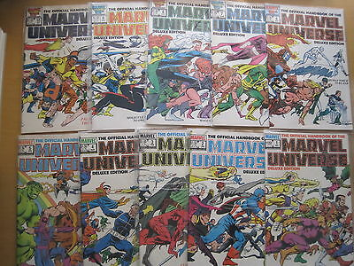 Official Handbook of MARVEL UNIVERSE DELUXE EDITION:COMPLETE 20 ISSU 1985 SERIES