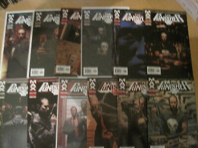 PUNISHER : COMPLETE RUN of issues 1 - 12 of the 2004 MARVEL MAX SERIES by ENNIS