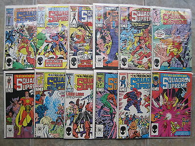 SQUADRON SUPREME :COMPLETE CLASSIC 12 ISSUE SERIES by GRUENWALD,HALL.MARVEL.1985