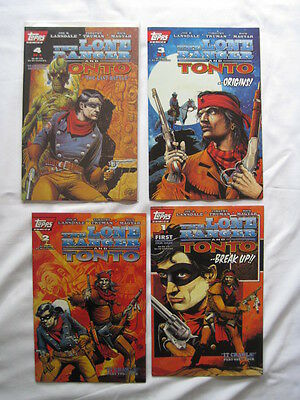 THE LONE RANGER & TONTO - COMPLETE 4 ISSUE MINI SERIES. By LANSDALE,TRUMAN. 1994