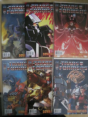 "Transformers : "" Devastation "" : Complete 6 Issue Series. Idw. 2008"