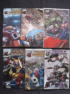TRANSFORMERS :GENERATION 1 Vol 2,COMPLETE 6 ISSUE SERIES. #1 FOLDOUT CVR.DW.2003
