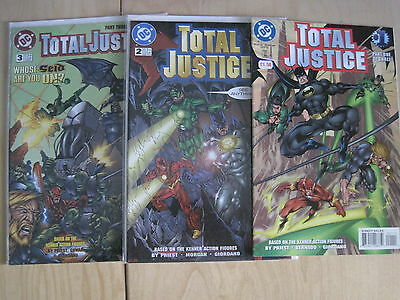 TOTAL JUSTICE : COMPLETE 3 ISSUE SERIES by PRIEST & BERNADO. 1,2,3. DC.1996