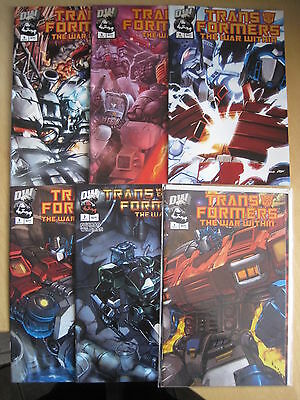 "Transformers : "" The War Within "", Complete 6 Issue Series. Dw. 2002"