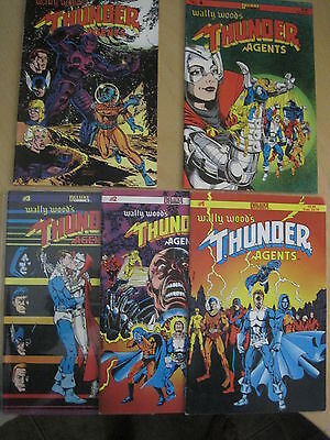 WALLY WOOD 's THUNDER AGENTS : COMPLETE ISSUES 1,2,3,4,5. 1984 DELUXE SERIES